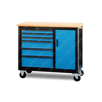 Mobile Drawers under Tool Workbench with Storage