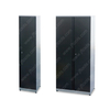 Black Professional Lockable Stainless Steel Tall Cabinet with Key Shelves