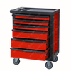 5'' PVC Casters Roller Tool Box Chest Cabinet Combo