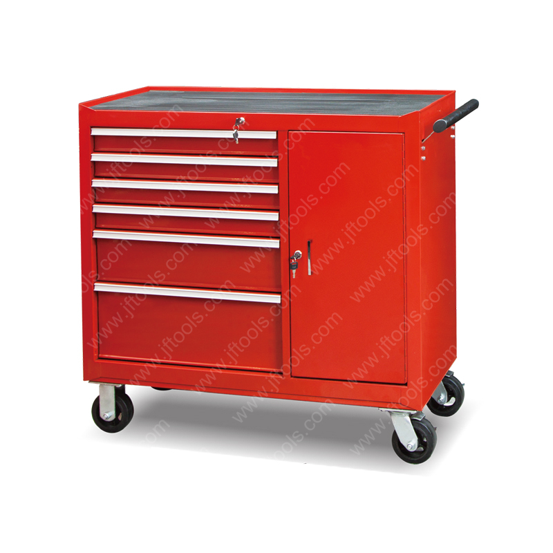 Rolling Metal 6 Drawer And 1 Door Tool Cabinet for Sale